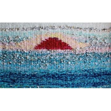 Gobelin dywanik chodnik zachód słońca nad wodą