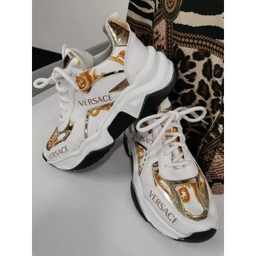 buty sneakersy Versace białe rozmiar 38