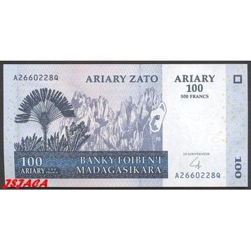 MADAGASKAR 100 Ariary / 500 Francs 2004