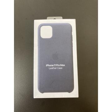 IPhone 11 Pro Max Leather case granatowe