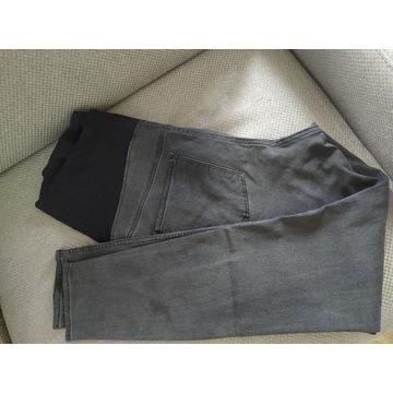 Spodnie ciążowe H&M Mama skinny jeans czarne XL