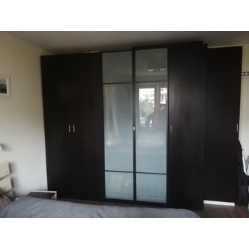 Drzwi do szafy IKEA Pax FORSAND zawiasy czarnobrąz