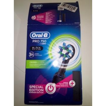 Szczoteczka Oral-B Pro 750, Black, 3D