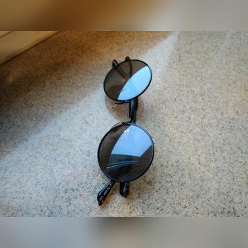 okulary Lennonki, czarne