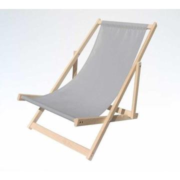 Drewniany leżak plażowy