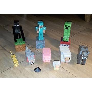 Minecraft figurki z dodatkami zestaw