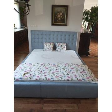 Łóżko tapicerowane pikowane 160 cm pojemnik