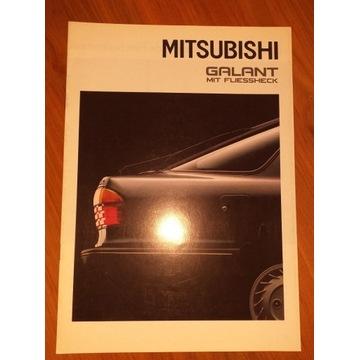 Prospekt sam. 14 str MITSUBISHI GALANT fliessheck