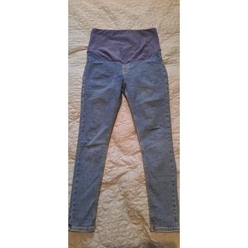 Spodnie ciążowe, gumowany jeans, 40