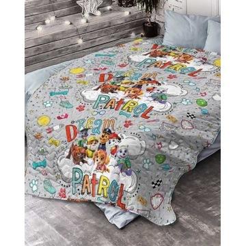 Narzuta na łóżko Psi Patrol 140x200cm dziecięca