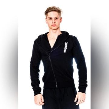 Bluza Czarna Mordex r. XL na siłownię młodzieżowa