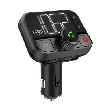 Nadajnik FM + zestaw głośnomówiący z Bluetooth 5.0