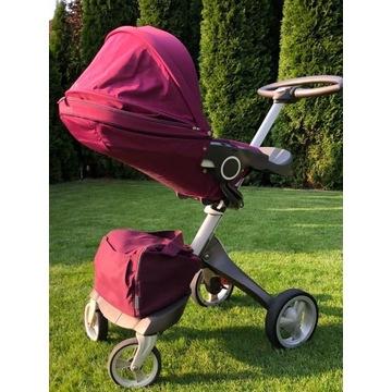 Wózek STOKKE XPLORY Purple - zestaw