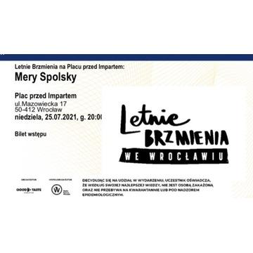 Bilet Letnie Brzmienia Mery Spolsky
