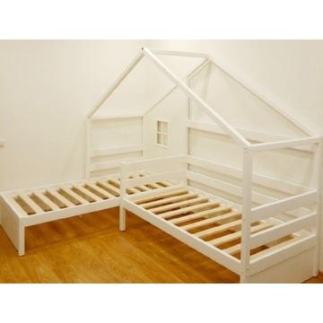Podwójne łóżko narożne domek 160x80