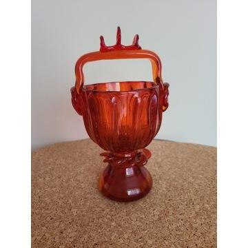 Cukiernica szklana czerwona