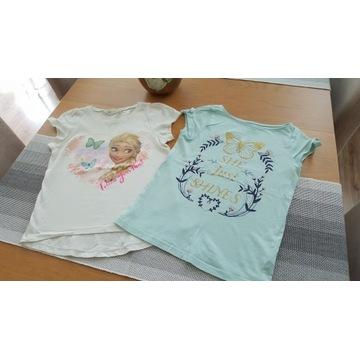 T-shirty, bluzeczki H&M Kraina Lodu 122/128cm