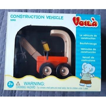 Voila Dźwig drewniana zabawka klocki auta