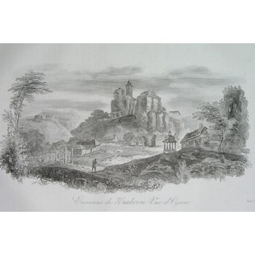 1836 oryginał zamek OJCÓW Kraków GALICJA