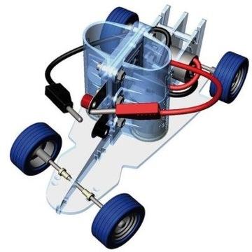 Edukacyjny model samochodu napędzany wodorem
