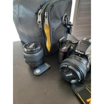 Nikon D5300 + AFS 18-55mm, 50mm 1:1.8G