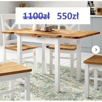 - 50% Nowy drewniany stół firmy 17 stories 77x77