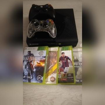 Xbox 360 250gb 2pady +4 gry