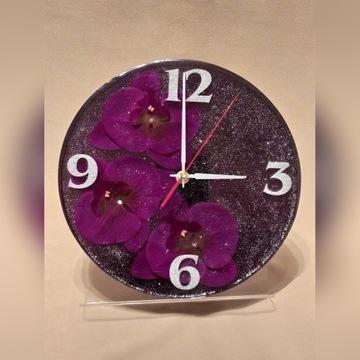 Zegar ścienny storczyk