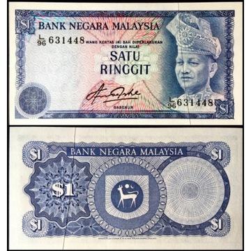 Malezja 1 Ringgit 1981 UNC Destrukt
