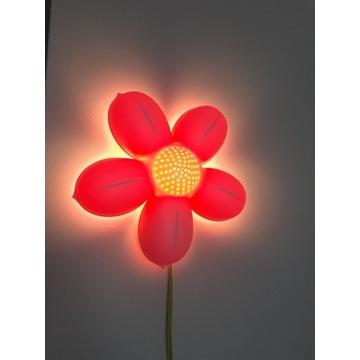 Lampka IKea kwiatek różowy Smila Blomma