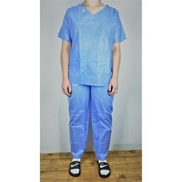 medyczne ubranie jednorazowe komplet ROZMIAR: M-XL