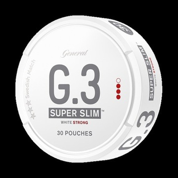 G.3 white strong super slim x30 pudelka  od snus