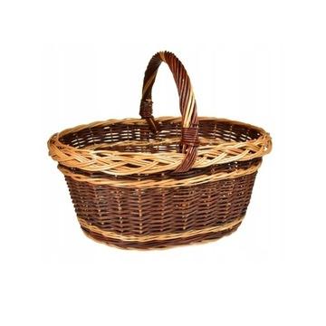 Koszyk wiklinowy na grzyby, zakupy