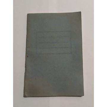 Zeszyt z PRL, 60 kartek w linie