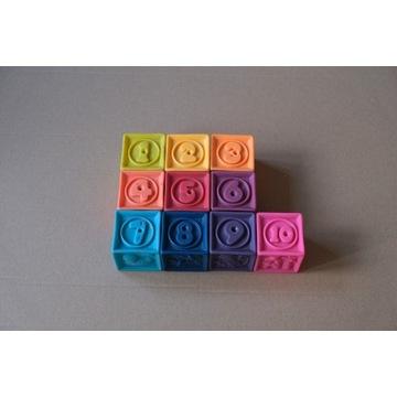 B.toys miękkie klocki 10x One Two Squeeze gumowe