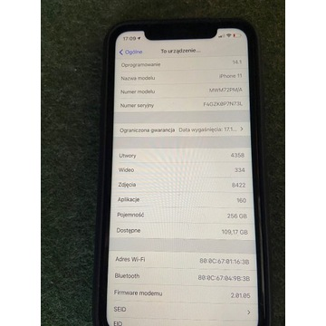 iPhone 11 - 256GB - st.BDB - od 1zł BCM