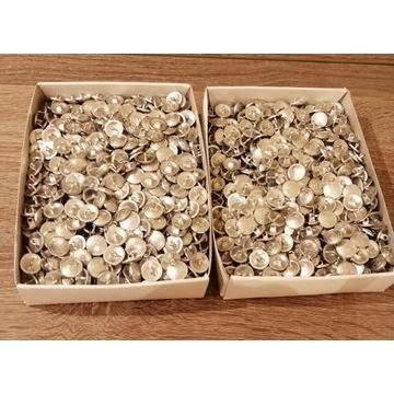 Guziki metalowe srebrne Rene Lezard  1800 sztuk