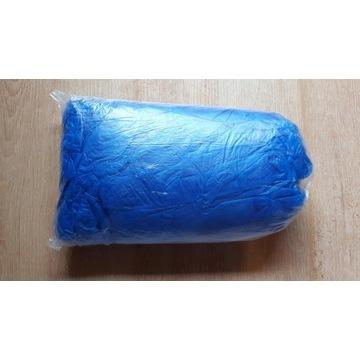 Rękawiczki nitrylowe bezpudrowe niebieskie L