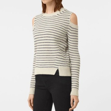 AllSaints Mull Jumper wełniany  sweter w roz.38