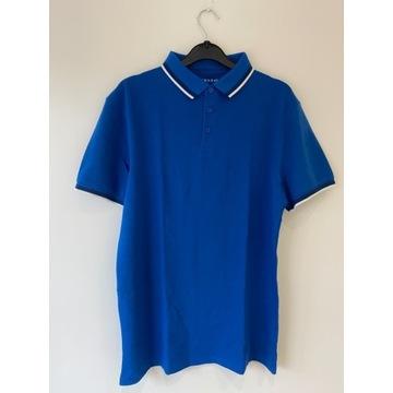 PRIMARK koszulka bluzka polo niebieska L *NOWA*191