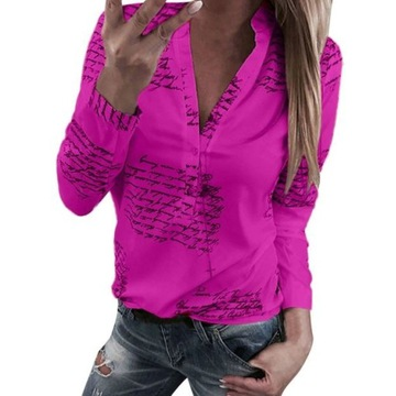 Bluzka damska fioletowa modna elegancka sexowna L