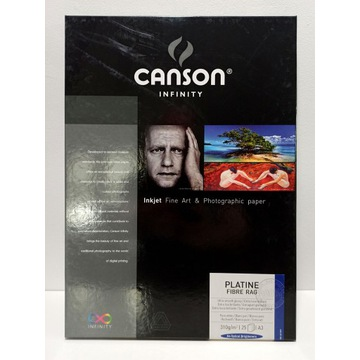 CANSON INFINITY Platine Fibre Rag 310g (25 ark) A3