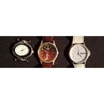 Trzy zegarki na części