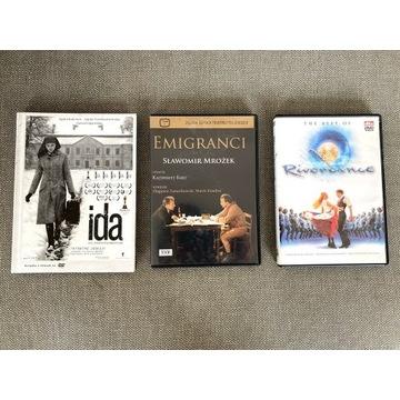 """Film """"IDA"""" DVD + 2 inne filmy na DVD -stan idealny"""