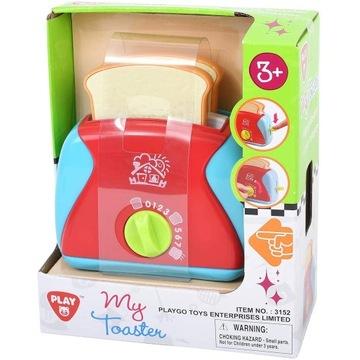 Toster Zabawkowy + dwie kromki pieczywa + dodatki