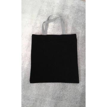czarna torba ,polar flausz