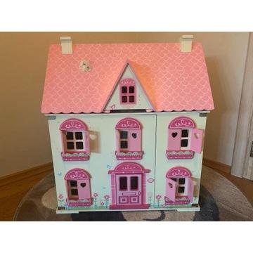 drewniany domek dla lalek, 65cm wysokości !