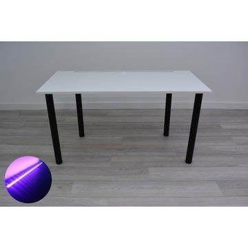 Biurko Gamingowe Biurowe -Basic Line- Białe LED