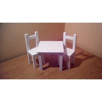 Jadalnia-Stół+2 Krzesła dla lalek max 30cm
