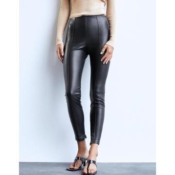 (40/L) ZARA/Skórzane spodnie, legginsy, rurki/NOWE